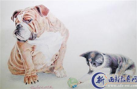 画出的唯美头像动物